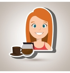 People and coffee icon design vector