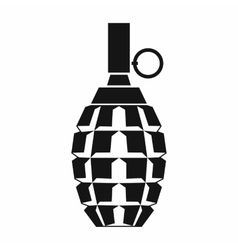 Grenade icon simple style vector