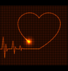 abstract heart cardiogram - vector image