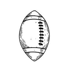 American football equipment engraving vector
