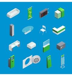 Bank Interior Isometric Elements vector image