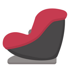 black and red baby car seat side view isolated on vector image vector image