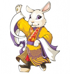 chinese rabbit vector image