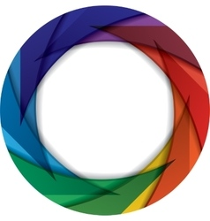 Colorful circle with rainbow colors vector