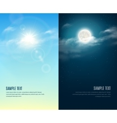 Day and night sky background vector