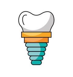 dental implant isolated icon vector image
