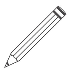 figure pencil school icon vector image vector image