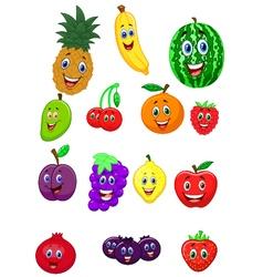Fruit cartoon character vector