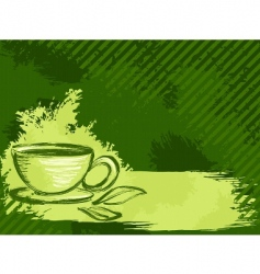 grunge tea background vector image vector image
