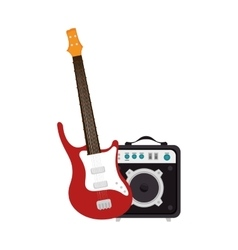 Guitar electric instrument isolated icon vector