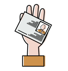 Hand with id licence vector