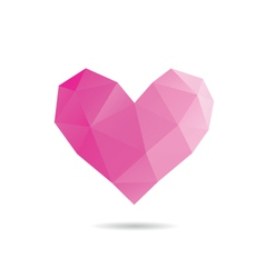 Heart shape abstract vector image vector image
