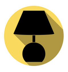 lamp sign flat black icon vector image