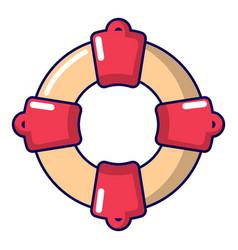 lifebuoy icon cartoon style vector image