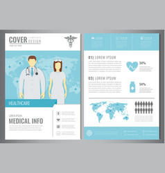 Medical brochure design template healthcare and vector