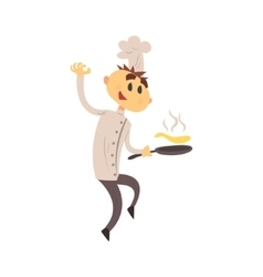 Professional cook in classic double breasted white vector