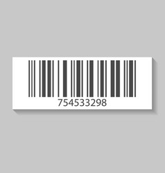 Retail barcode isolated icon vector