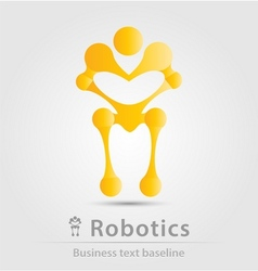 Robot and robotics business icon vector image vector image