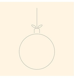Simple linear christmas ball toy on a string vector