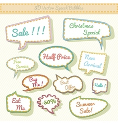 speech bubbles 3d with sale text vector image