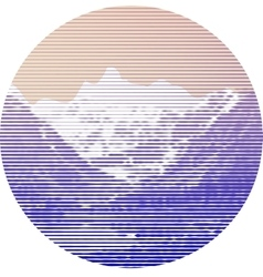 Striped mountain landscape vector image
