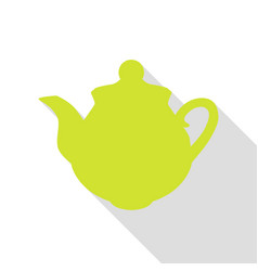 Tea maker sign pear icon with flat style shadow vector