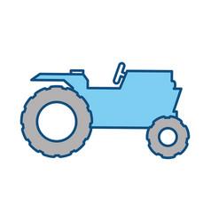 Tractor farm vehicle vector