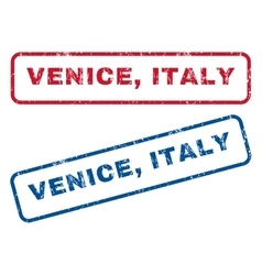 Venice italy rubber stamps vector