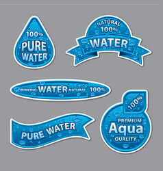Water labels and stickers vector
