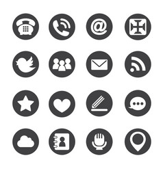 Web communication icons internet set vector image vector image