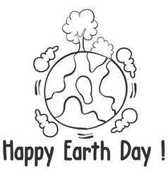 World day design style hand draw vector