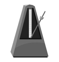 Metronome icon gray monochrome style vector