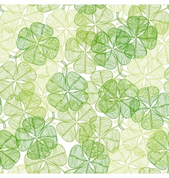 Seamless pattern with abstract clover leaves vector image