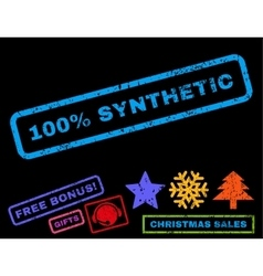 100 percent synthetic rubber stamp vector