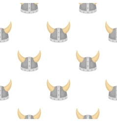 Viking helmet icon in cartoon style isolated on vector
