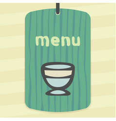 Outline ice cream bowl icon modern infographic vector