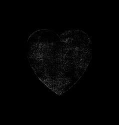 White heart symbol watercolor texture vector