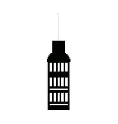 Building business commercial facade exterior vector