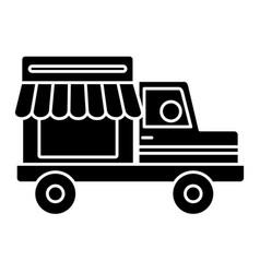 Store truck icon vector