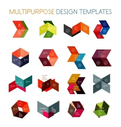 Collection of paper arrow multipurpose templates vector