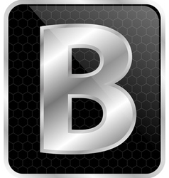 Silver typographic b vector image
