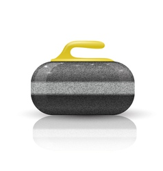 Stone for curling sport game vector