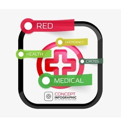 Medicine cross infographic concept vector