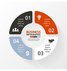 Circle infographic diagram graph presentation vector