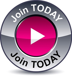 Join today round button vector