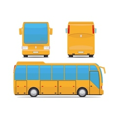 Yellow bus vector image
