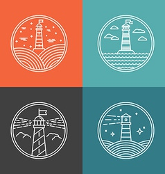 Lighthouse logos vector
