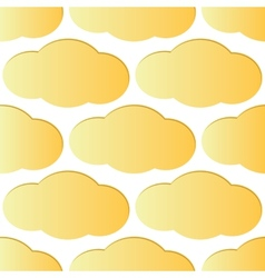 Light orange cloud pattern vector