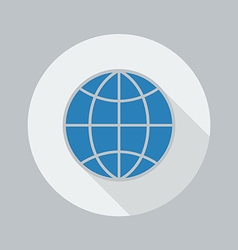 Eco flat icon globe vector