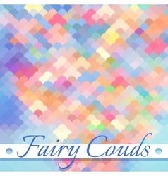 Fairy clouds background vector